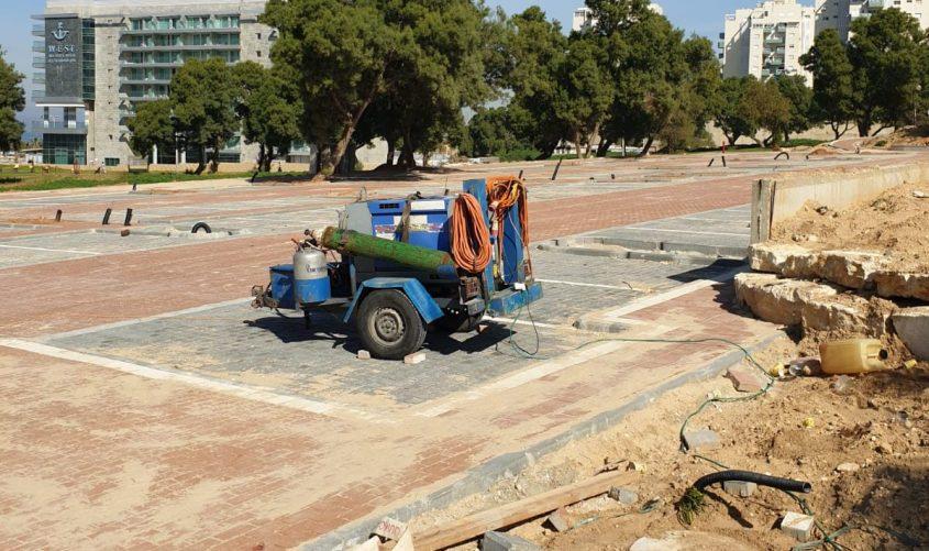 הכשרת חניות חדשות. צילום: עיריית אשדוד