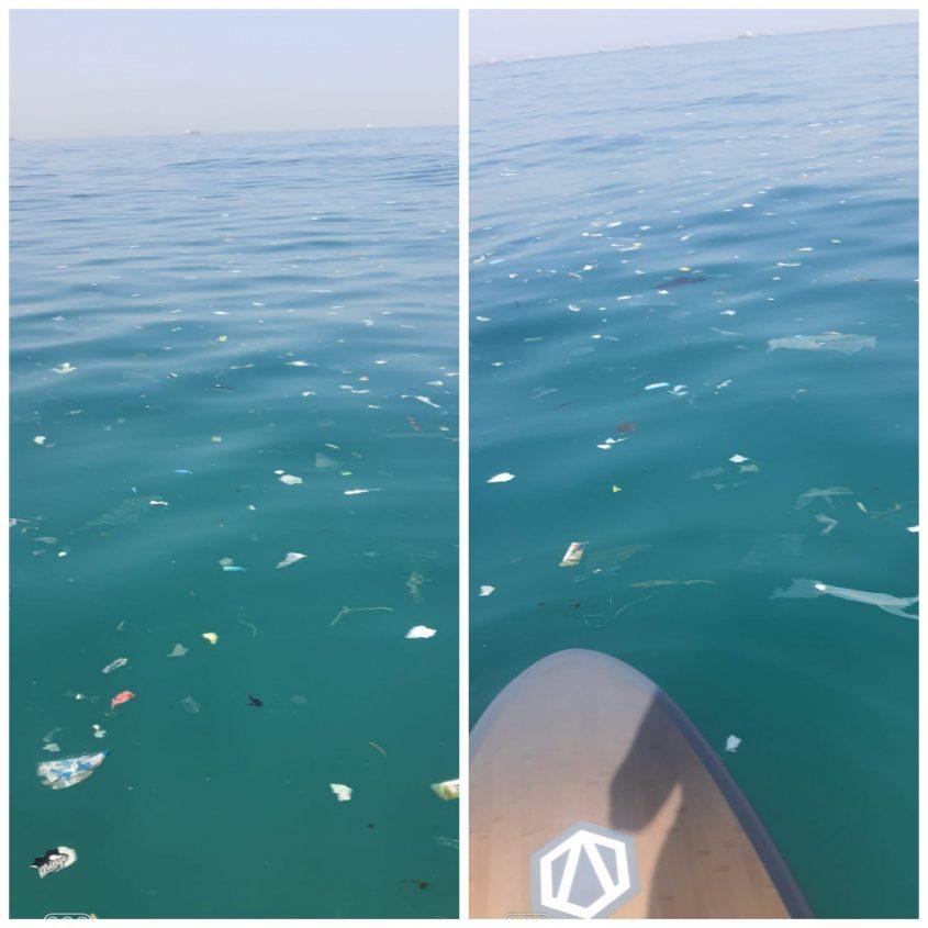 ככה נראו המים בחוף הקשתות