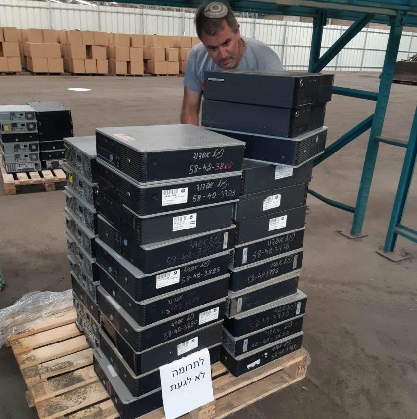 """המחשבים שתרמה חברת נמל אשדוד. צילום: יח""""צ נמל אשדוד"""