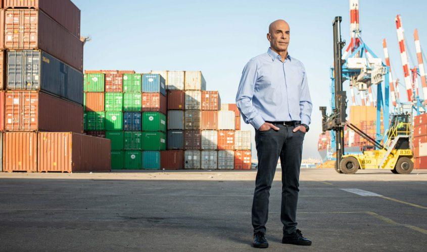"""מנכ""""ל נמל אשדוד, שיקו ז'אנה. צילום: אבישג שאר ישוב"""
