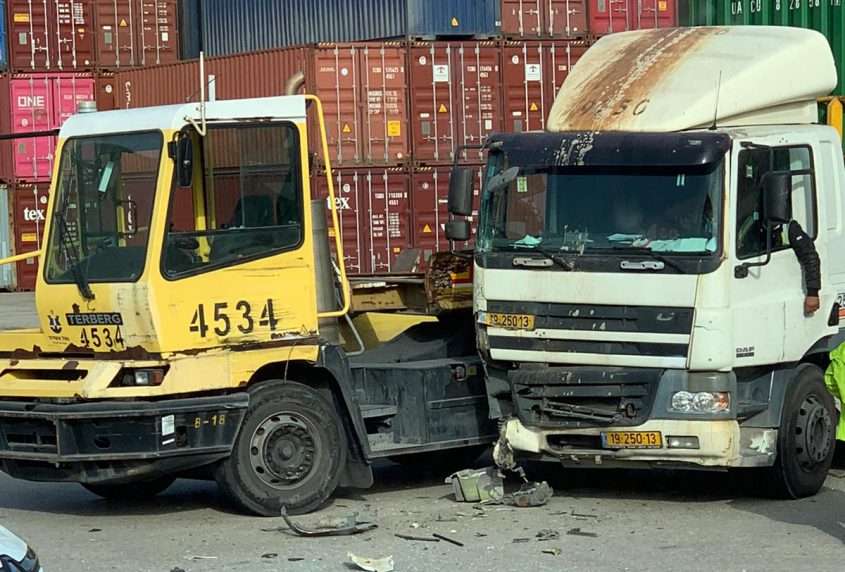 התאונה בנמל אשדוד
