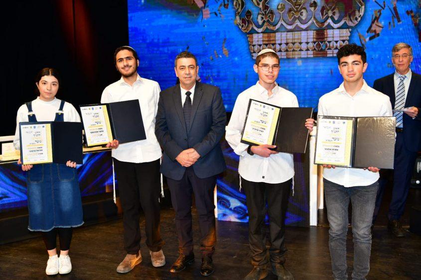 המתמודדים מימין לשמאל: עמית אלגזר, דביר ברחד, גלעד אברהמוף ואוראל בנימיני. צילום: שלמה אמסלם