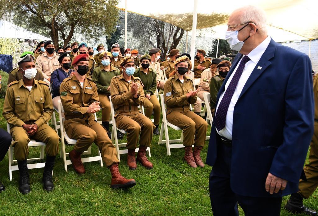 """הנשיא רובי ריבלין בטקס מצטייני הנשיא. צילום: חיים צח/לע""""מ"""