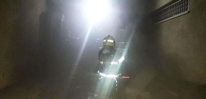 לוחמי האש בזירה. צילום: תיעוד מבצעי כבאות והצלה