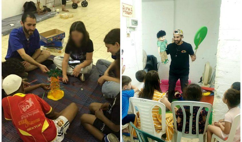 פעילות במקלטים. צילום: תחום הנוער אשדוד