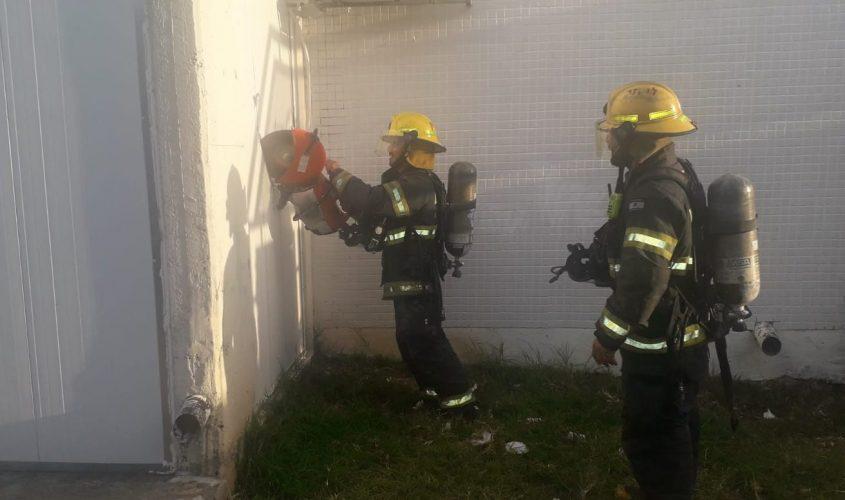 השריפה ברחוב הורקנוס. צילום: תיעוד מבצעי כבאות והצלה