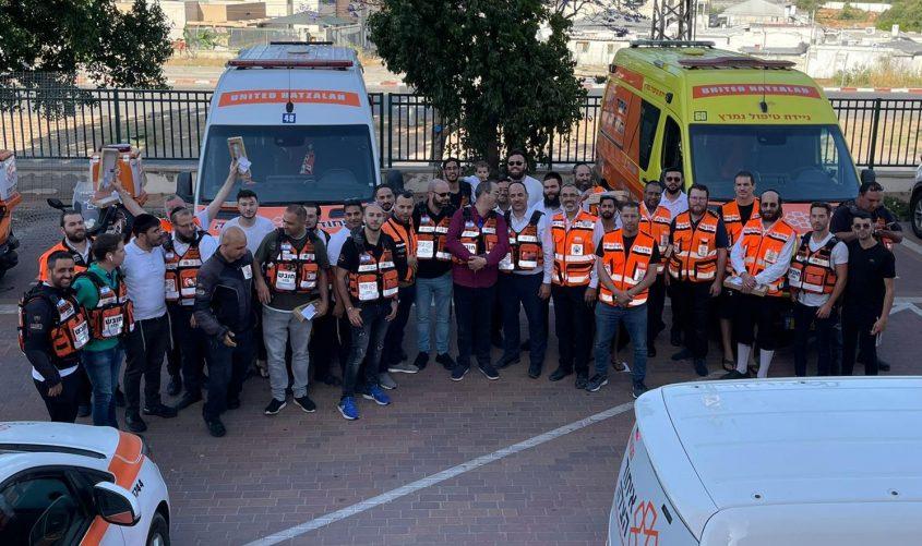 המתנדבים. צילום: דוברות איחוד הצלה