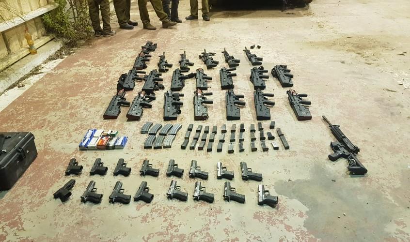 כלי הנשק שנתפסו