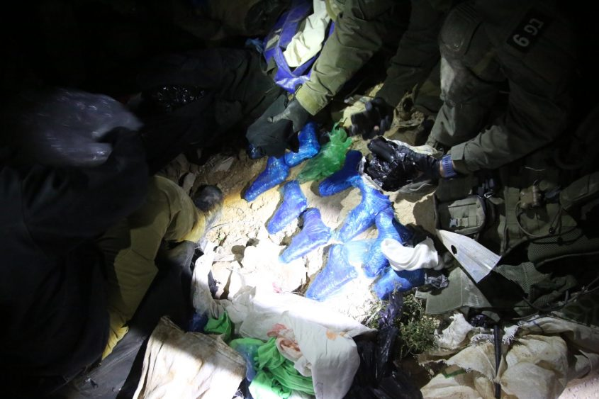 כלי הנשק שנתפסו. צילום: דוברות המשטרה