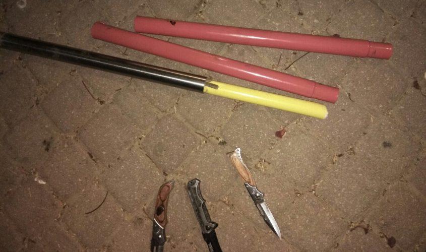 אלות וסכינים. צילום ארכיון: דוברות המשטרה