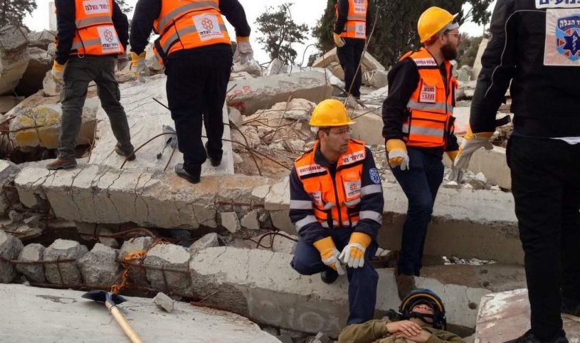 מתנדבי יחידת החילוץ אל איחוד הצלה. צילום: דוברות איחוד הצלה