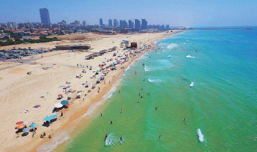 קו החוף של אשדוד. צילום: דוברות עיריית אשדוד
