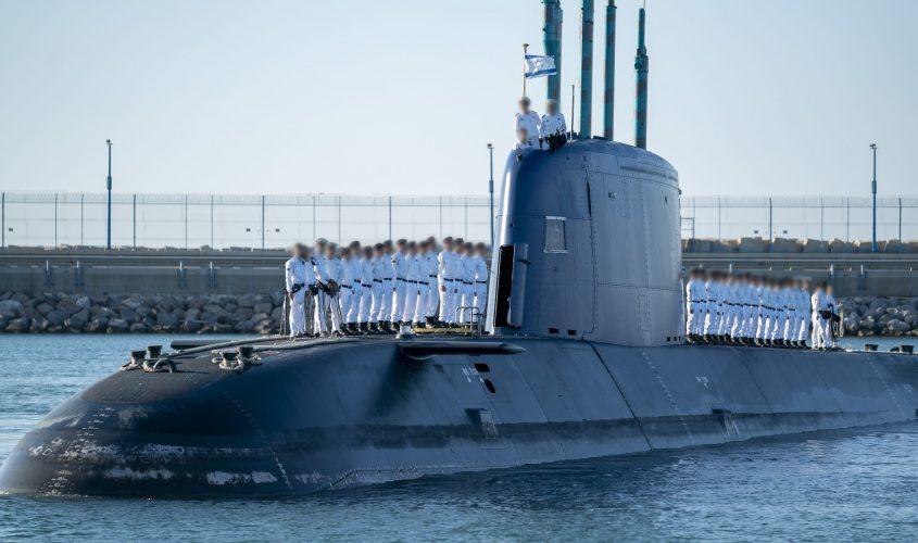 """מסיימי הקורס על הצוללת. צילום: דו""""צ"""