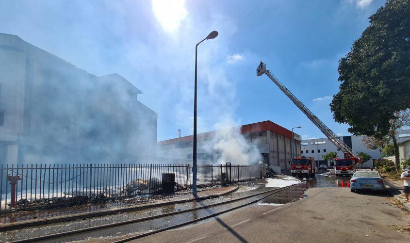 מזירת השריפה בבאר טוביה. צילום: תיעוד מבצעי כבאות והצלה