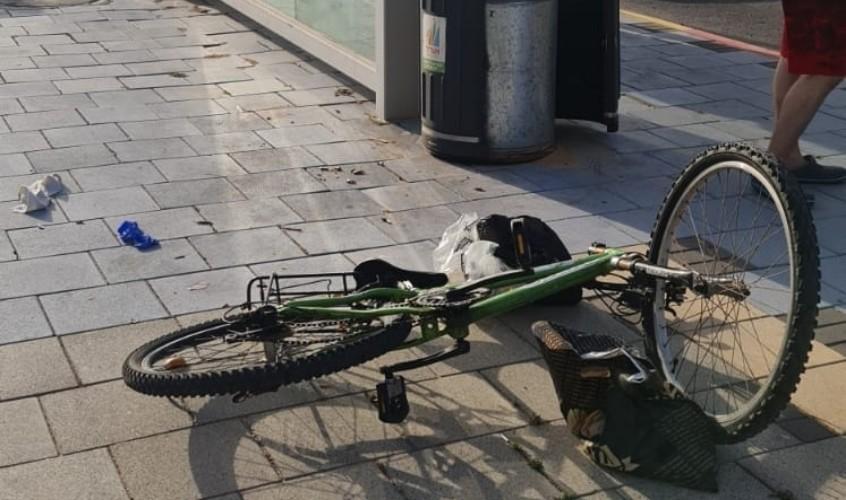 האופניים בזירה. צילום: דוברות איחוד הצלה