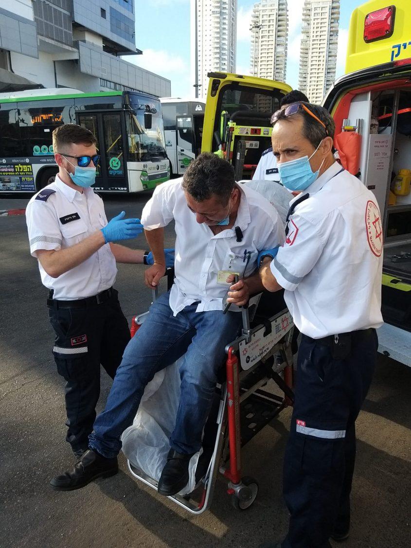 הנהג הפצוע. צילום: ארגון נהגי האוטובוסים, הסתדרות לאומית