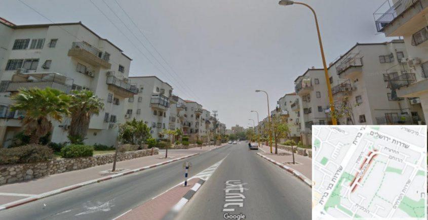 הרחוב הקטן אך והאדום ביותר - רחוב הצבעוני. צילום: מתוך גוגל סטריטוויו