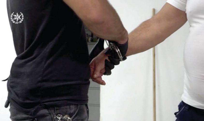 מעצר חשוד. צילום ארכיון: דוברות המשטרה