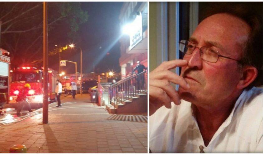 ציון כהן והשריפה במועצה הדתית באשדוד. צילום: דיווחים לכיש דרום