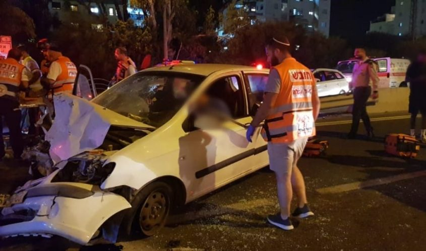 זירת התאונה. צילום: איחוד הצלה