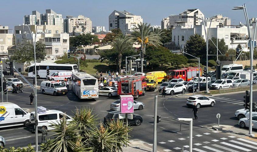 כך נראית זירת התאונה. צילום: ליאל וזאנה